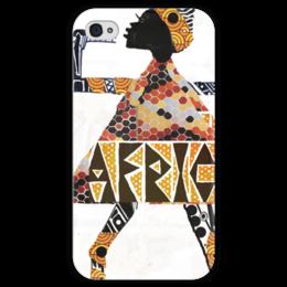"Чехол для iPhone 4 глянцевый, с полной запечаткой ""Africa"" - native, afrika, африка, african print"