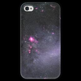 """Чехол для iPhone 4 глянцевый, с полной запечаткой """"Вселенная"""" - наука, космос, вселенная, звезды, галактика"""