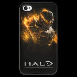 """Чехол для iPhone 4 глянцевый, с полной запечаткой """"Halo 4"""" - halo, halo 4"""