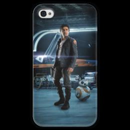 """Чехол для iPhone 4 глянцевый, с полной запечаткой """"Звездные войны - По Дамерон"""" - фантастика, звездные войны, дарт вейдер, кино, star wars"""