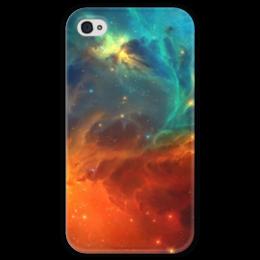 """Чехол для iPhone 4 глянцевый, с полной запечаткой """"Космическая туманность"""" - космос, фотография, звёзды, спутник, туманность"""