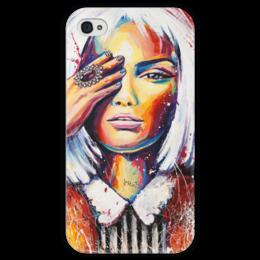 """Чехол для iPhone 4 глянцевый, с полной запечаткой """"Синдерелла"""" - sinderella, синдерелла"""