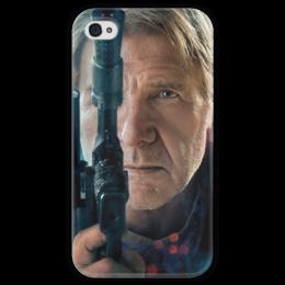 """Чехол для iPhone 4 глянцевый, с полной запечаткой """"Звездные войны - Хан Соло"""" - звездные войны, фантастика, дарт вейдер, кино, star wars"""