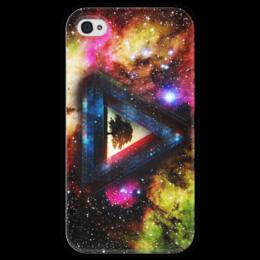 """Чехол для iPhone 4 глянцевый, с полной запечаткой """"Pink Floyd"""" - pink floyd, a prism, пинк флоид"""