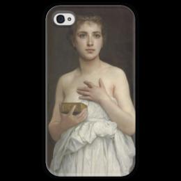 """Чехол для iPhone 4 глянцевый, с полной запечаткой """"Пандора (Pandore)"""" - картина, бугро"""