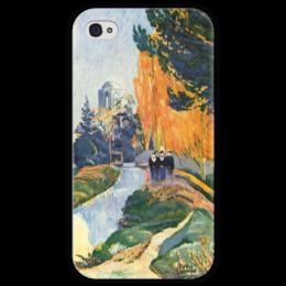 "Чехол для iPhone 4 глянцевый, с полной запечаткой ""Алискамп"" - картина, поль гоген"