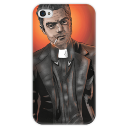 """Чехол для iPhone 4 глянцевый, с полной запечаткой """"Preacher"""" - проповедник, пастырь, джесси кастер, jessie custer"""
