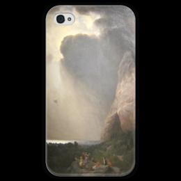 """Чехол для iPhone 4 глянцевый, с полной запечаткой """"The Lost Balloon"""" - картина, берд"""