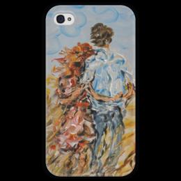 """Чехол для iPhone 4 глянцевый, с полной запечаткой """"Рыжее лето"""" - красиво, для души, вдвоем, ищу подарок девушке, понравится"""