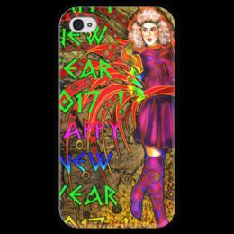 """Чехол для iPhone 4 глянцевый, с полной запечаткой """"Новогодний маскарад"""" - праздник, новый год, карнавал, 2017, новогодний костюм"""