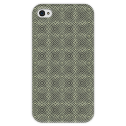 """Чехол для iPhone 4 глянцевый, с полной запечаткой """"Flux """" - арт, узор, абстракция, фигуры, текстура"""