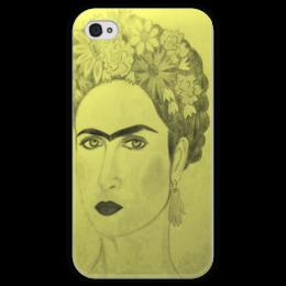 """Чехол для iPhone 4 глянцевый, с полной запечаткой """"В стиле Фриды"""" - арт, стиль, рисунок, реализм, сюрреализм, portret, фрида кало, фрида, frida kahlo"""