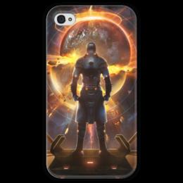 """Чехол для iPhone 4 глянцевый, с полной запечаткой """"Starpoint Gemini Warlords"""" - starpoint gemini warlords, планета, космос, взрыв, компьютерная игра"""