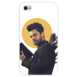 """Чехол для iPhone 4 глянцевый, с полной запечаткой """"Пастырь"""" - комиксы, dc comics, preacher, проповедник"""