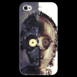 """Чехол для iPhone 4 глянцевый, с полной запечаткой """"C-3PO"""" - star wars, звездные войны, стар варс, р2д2, ситрипио"""