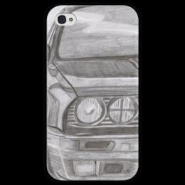 """Чехол для iPhone 4 глянцевый, с полной запечаткой """"BMW E30"""" - bmw, e30, bmw e30"""