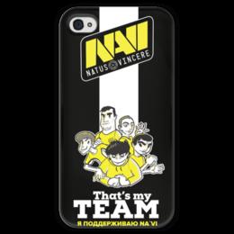 """Чехол для iPhone 4 глянцевый, с полной запечаткой """"NA'VI"""" - game, cs, кс, cs go"""