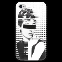 """Чехол для iPhone 4 глянцевый, с полной запечаткой """"AUDR3Y"""" - audrey, audrey hepburn, одри хепбёрн, actress, актриса"""