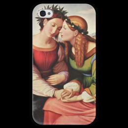 """Чехол для iPhone 4 глянцевый, с полной запечаткой """"Италия и Германия"""" - картина, овербек"""