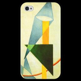 """Чехол для iPhone 4 глянцевый, с полной запечаткой """"Беспредметная композиция"""" - картина, розанова"""