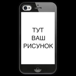 """Чехол для iPhone 4 глянцевый, с полной запечаткой """"Двусторонний iPhone 4"""" - прикольные, прикол, юмор"""