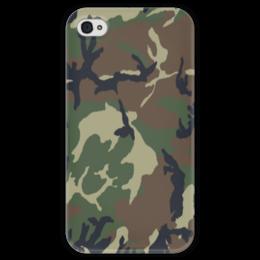 """Чехол для iPhone 4 глянцевый, с полной запечаткой """"камуфляж"""" - армия, military, камуфляж, camo"""