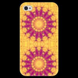 """Чехол для iPhone 4 глянцевый, с полной запечаткой """"Helicologie"""" - арт, узор, абстракция, фигуры, текстура"""
