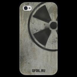 "Чехол для iPhone 4 глянцевый, с полной запечаткой ""Логотип-трафарет"" - сталкер, stalker, тёмная душа"
