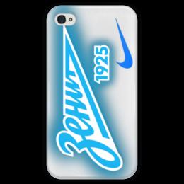 """Чехол для iPhone 4 глянцевый, с полной запечаткой """"Fc Zenit St. Petersburg"""" - зенит, санкт-петербург, футбольный клуб, zenit"""