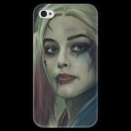 """Чехол для iPhone 4 глянцевый, с полной запечаткой """"Харли Квинн"""" - harley quinn, отряд самоубийц, suicide squad, margot robbie, марго робби"""