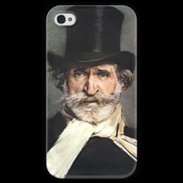 """Чехол для iPhone 4 глянцевый, с полной запечаткой """"Портрет Джузеппе Верди"""" - картина, больдини"""