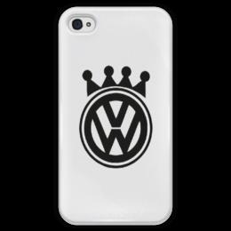 "Чехол для iPhone 4 глянцевый, с полной запечаткой ""VW iphone 4/4s casе"""