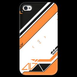 """Чехол для iPhone 4 глянцевый, с полной запечаткой """"Azimov"""" - cs, кс, skins, азимов, asimov"""