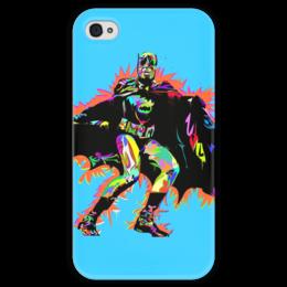 """Чехол для iPhone 4 глянцевый, с полной запечаткой """"Бэтмен"""" - бэтмен, комиксы, dc, dc comics, batman"""