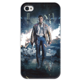 """Чехол для iPhone 4 глянцевый, с полной запечаткой """"Звездные войны - Финн"""" - звездные войны, фантастика, кино, дарт вейдер, star wars"""