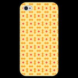 """Чехол для iPhone 4 глянцевый, с полной запечаткой """"Haiku"""" - арт, узор, абстракция, фигуры, текстура"""