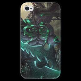 """Чехол для iPhone 4 глянцевый, с полной запечаткой """"Иллидан"""" - wow, blizzard, world of warcraft, варкрафт, illidan stormrage"""