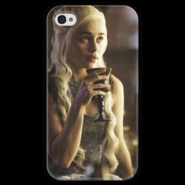 """Чехол для iPhone 4 глянцевый, с полной запечаткой """"game of thrones"""" - игра престолов, game of thrones, дейенерис таргариен, кхалиси"""