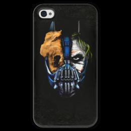 """Чехол для iPhone 4 глянцевый, с полной запечаткой """"Джокер (Бэтмен)"""" - batman, джокер, бэтмен, mortal kombat, темный рыцарь"""
