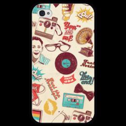 "Чехол для iPhone 4 глянцевый, с полной запечаткой ""Ретро"" - ретро, олдскул, old school, vintage"