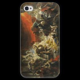 """Чехол для iPhone 4 глянцевый, с полной запечаткой """"Последний день Помпеи (картина Брюллова)"""" - картина, брюллов"""