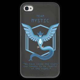 """Чехол для iPhone 4 глянцевый, с полной запечаткой """"Team Mystic"""" - мультфильм, pokemon, покемон, мистик, mystic"""
