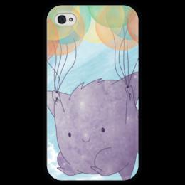 """Чехол для iPhone 4 глянцевый, с полной запечаткой """"Генгар"""" - pokemon go, покемон го, гастли, gengar, хонтер"""