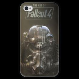 """Чехол для iPhone 4 глянцевый, с полной запечаткой """"The ART of Fallout 4"""" - fallout, steam, bethesda, фаллаут, fallout 4"""