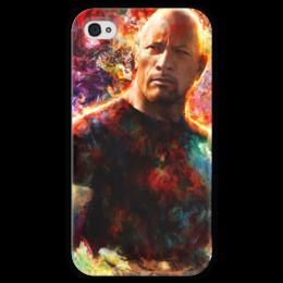 """Чехол для iPhone 4 глянцевый, с полной запечаткой """"Дуэйн """"Скала"""" Джонсон"""" - the rock, dwayne johnson"""
