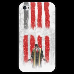 """Чехол для iPhone 4 глянцевый, с полной запечаткой """"Восьмерка - Охотник за головами"""" - tarantino, тарантино, майор, омерзительная восьмерка, сэмюэль джексон"""