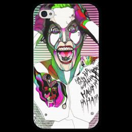 """Чехол для iPhone 4 глянцевый, с полной запечаткой """"Джокер"""" - jared leto, joker, джокер, suicide squad, отряб самоубийц"""