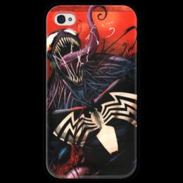 """Чехол для iPhone 4 глянцевый, с полной запечаткой """"Веном (Venom)"""" - марвел, комиксы, человек-паук, веном, comics"""