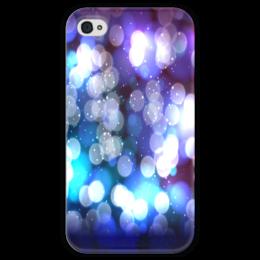 """Чехол для iPhone 4 глянцевый, с полной запечаткой """"Блики света"""" - краски, блики, блеск, вспышки, солнечные зайчики"""