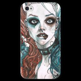 """Чехол для iPhone 4 глянцевый, с полной запечаткой """"Харли Квинн"""" - джокер, бэтмен, batman, joker, harley quinn"""